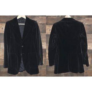 Vintage Yves Saint Laurent Black Velvet Blazer